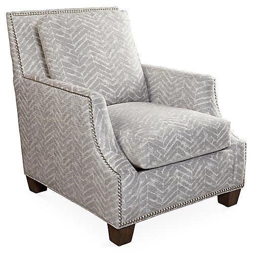 Belcourt Club Chair, Gray