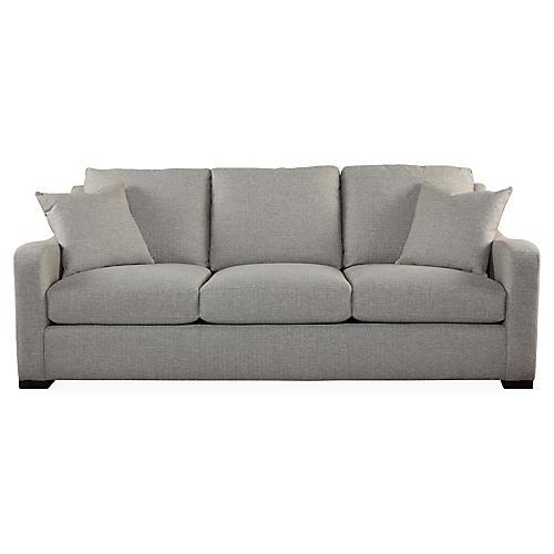 """Almeda 91"""" Sofa, Dove Gray"""