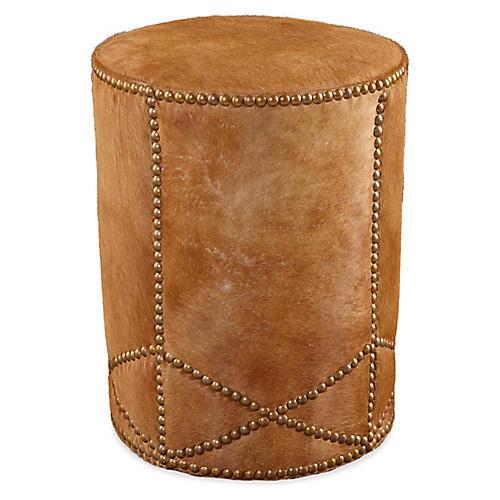 Olson Ottoman, Cognac Leather