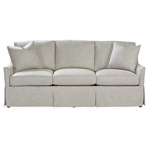 Cyrus Skirted Sofa, Ash