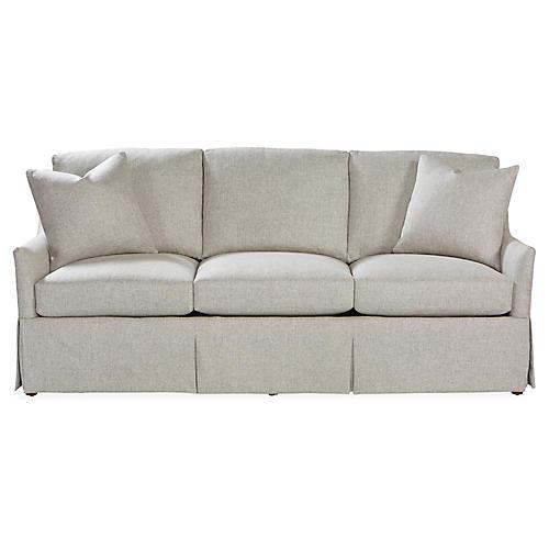 Cyrus Skirted Sofa, Ash