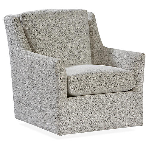 Eckford Swivel Chair, Gray