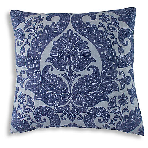 Brant 19x19 Pillow, Denim