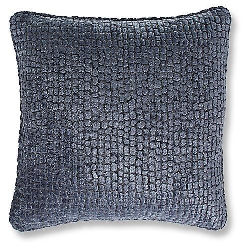 Camden 19x19 Pillow, Steel Blue Chenille