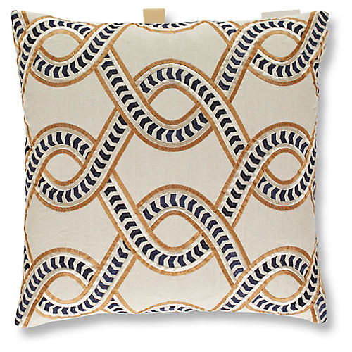 Flagler 19x19 Pillow, Midnight