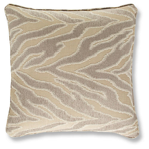 Pitusa 19x19 Pillow, Nickel