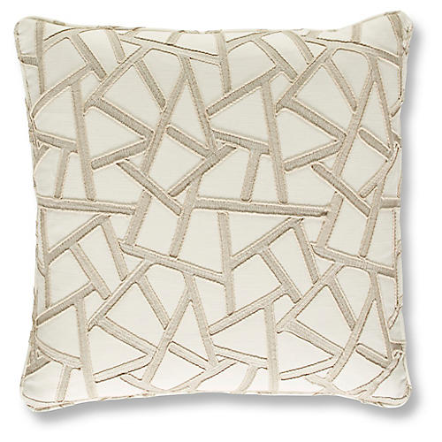 Ponce 19x19 Pillow, Geometric Beige