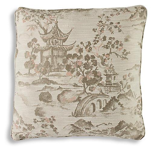 Nemec 19x19 Pillow, Blush
