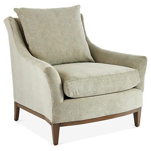 McCord Accent Chair, Mint/Gray
