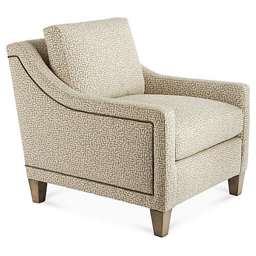Abby Accent Chair, Cream/Mink