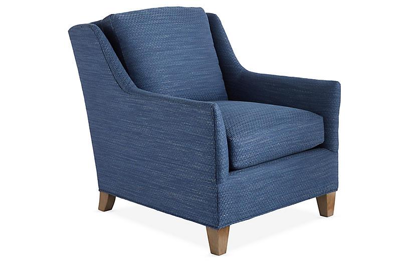 Henry Club Chair, Navy