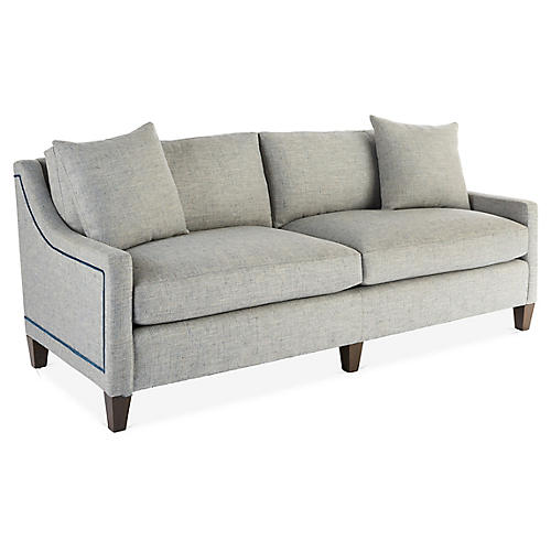 Abby Sofa, Gray/Blue