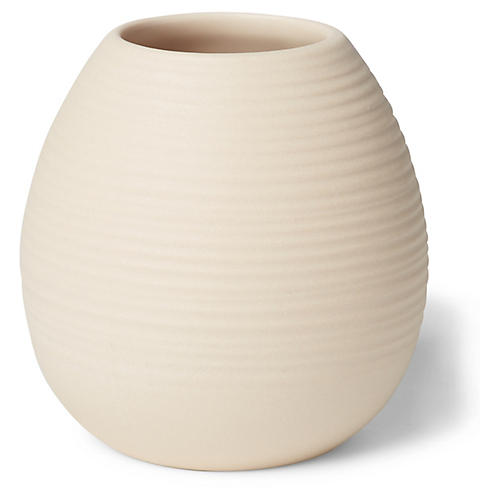 "3"" Ribbed Bud Vase, Blush"