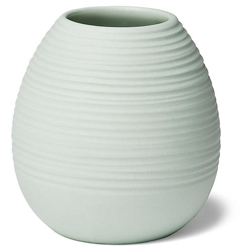 "3"" Ribbed Bud Vase, Mint"