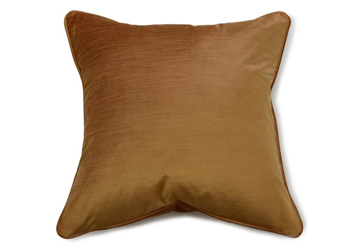 "21"" Square Pillow, Gold"