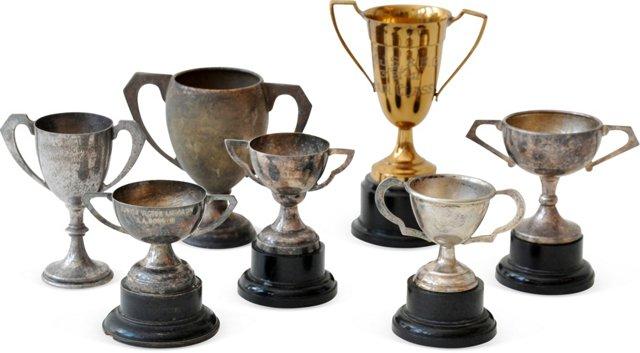 Vintage Trophies, Set of 7