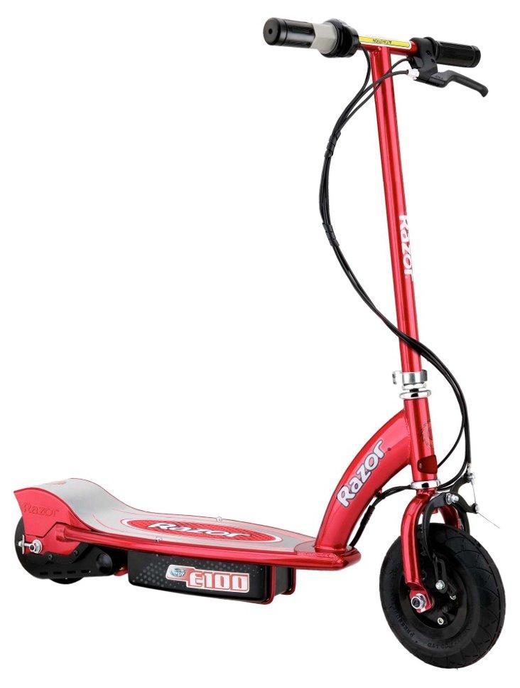 Razor E100 Electric Scooter, Red