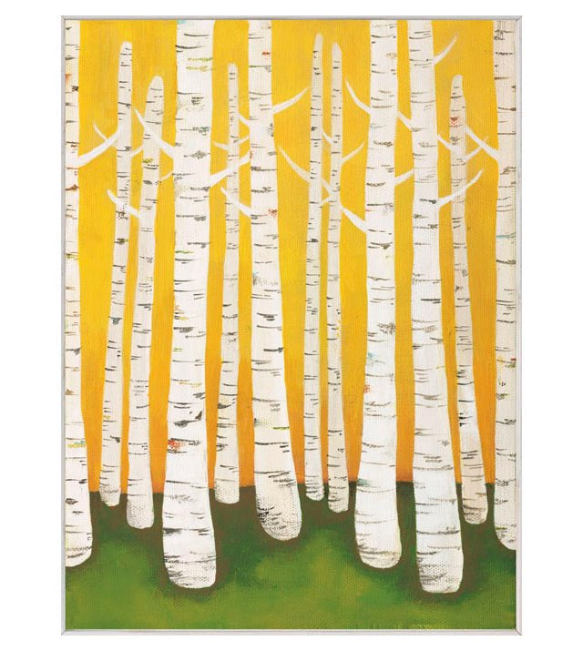Lisa Congdon, Autumn Birches