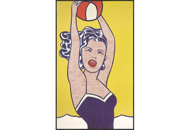Lichtenstein, Girl with Ball