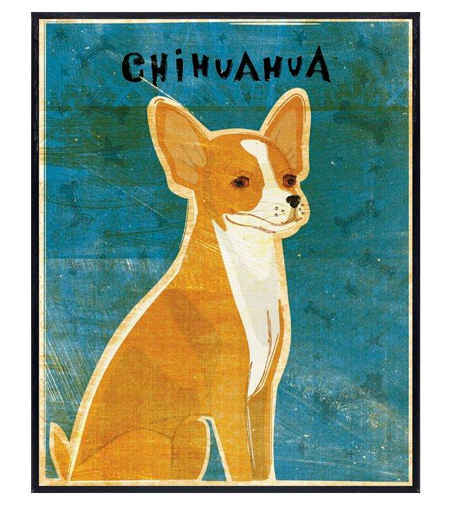 Red Chihuahua Art Block