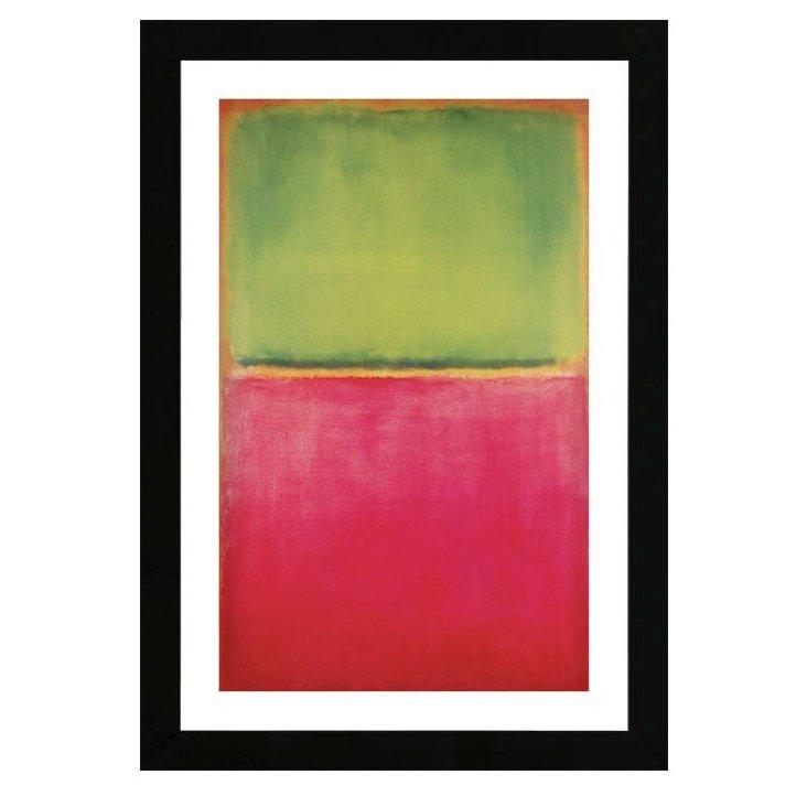 Mark Rothko, Green, Red, on Orange