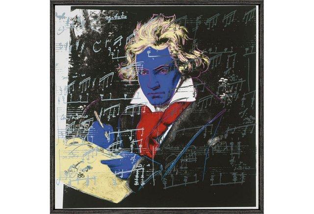 Warhol, Beethoven 1987 (blue face)