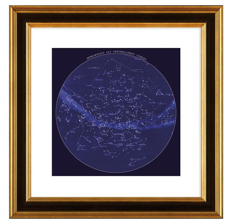 Celestial Map of Constellations, France