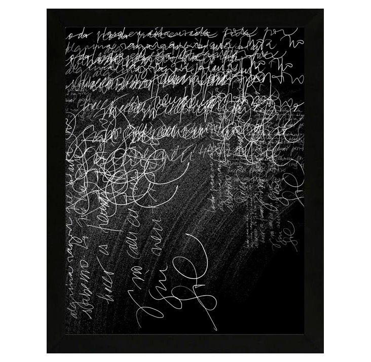 Carolina Pecora, Thoughts on Chalkboard