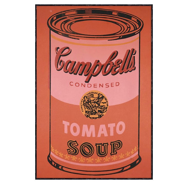Warhol, Campbell Soup Can 1965 (Orange)