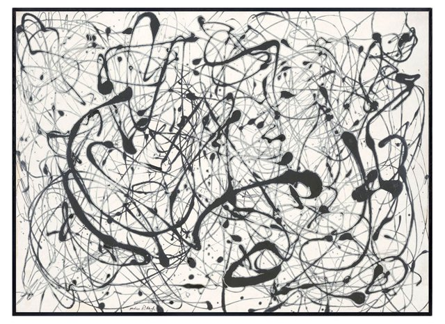 Jackson Pollock, Number 14:  Gray