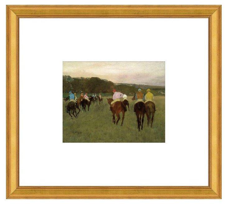 Degas, Racehorses at Longchamp, 1871