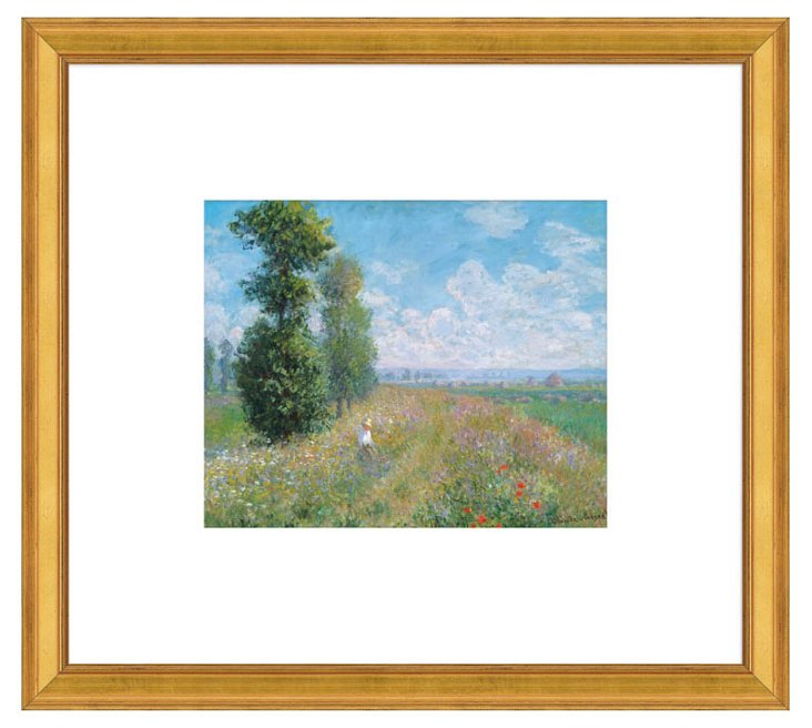 Monet, Meadow with Poplars, about 1875