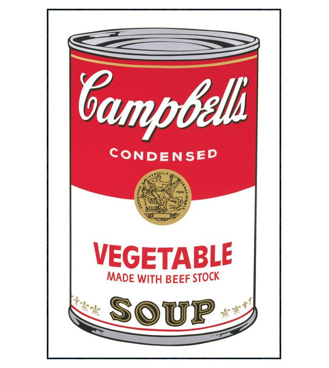 Warhol, Campbell's Soup I: Vegetable