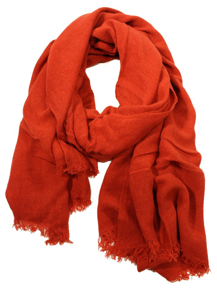 Soft & Solid Scarf, Rust