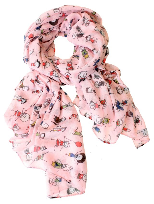 Peaceful World Scarf, Pink