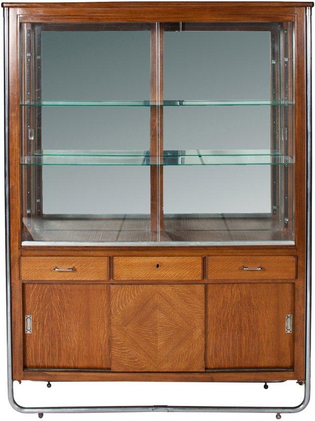 Oak & Chrome Bauhaus Vitrine, 1927