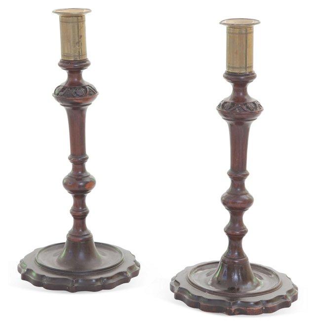 George IV Candlesticks, Pair
