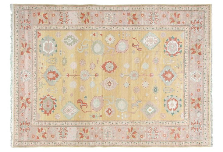 "10'3""x14'2"" Egyptian Oushak Rug, Butter"