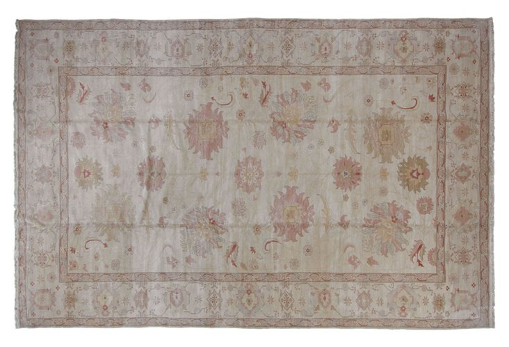 "12'2""x18'10"" Sultanabad Rug, Linen"