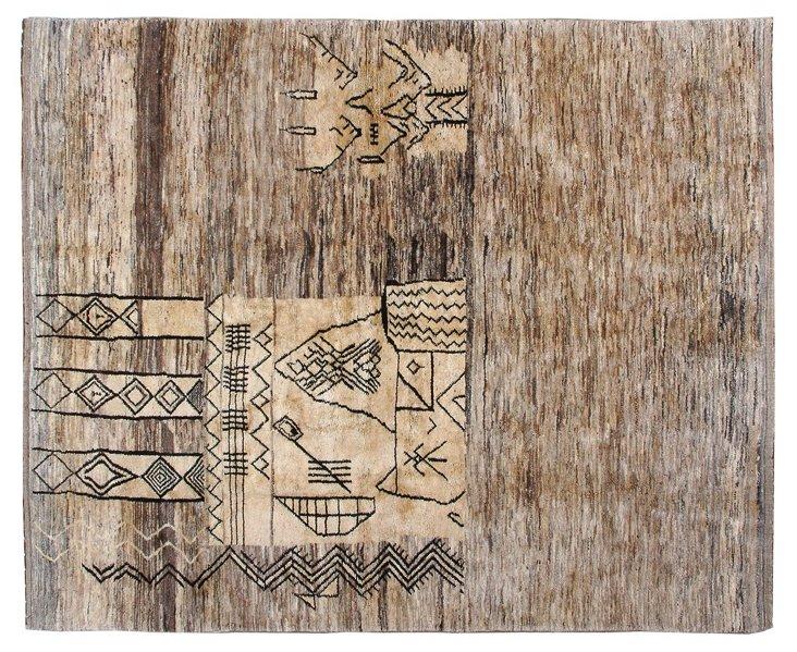 "8'x9'9"" Middle Atlas Rug, Tan/Bark"