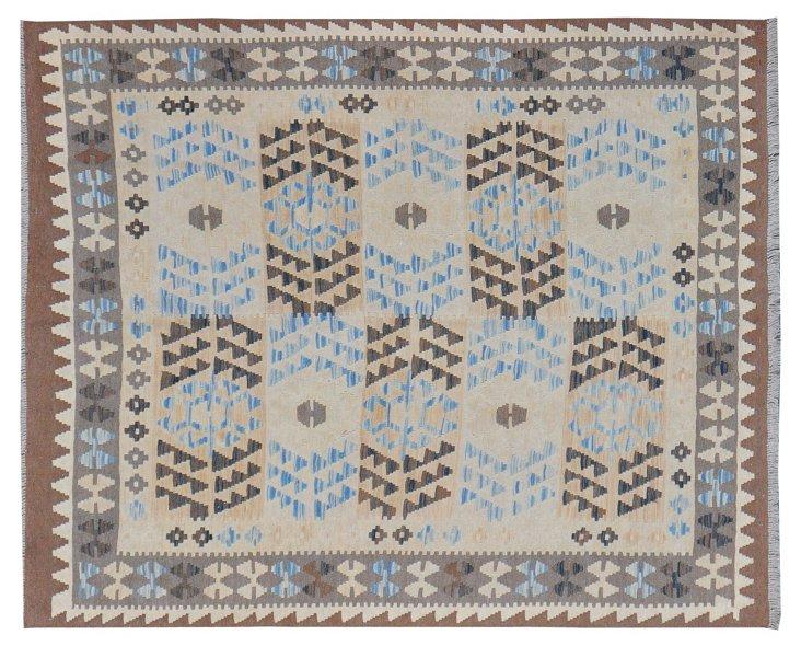 "5'1""x6'4"" Bahaar Flat-Weave Rug, Gray"