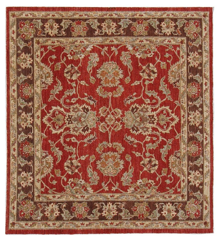 "6'3""x5'10"" Sultanabad Rug, Red"
