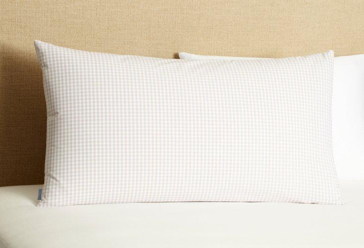 Mini Check Pillowcase, Beige