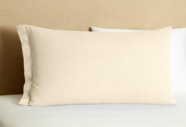S/2 Mono Pillowcases, Silver Oxford
