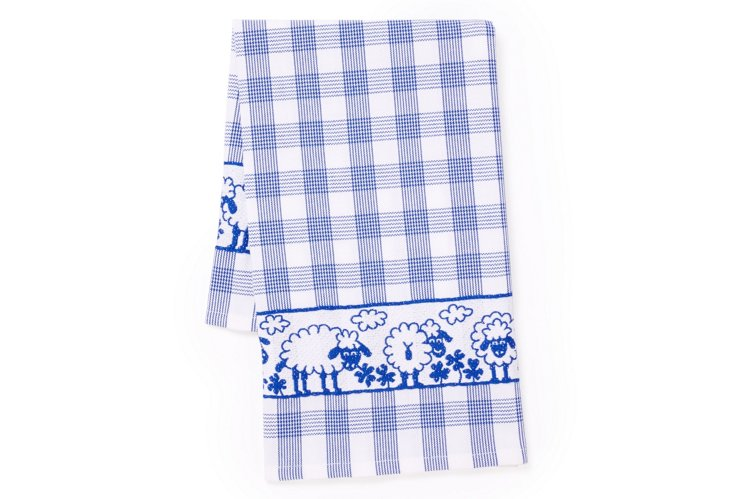 Sheep Tea Towel, Blue