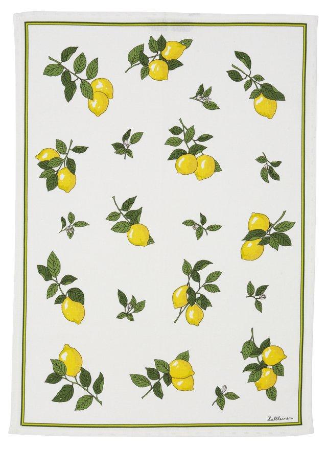 Lemons Linen Tea Towel