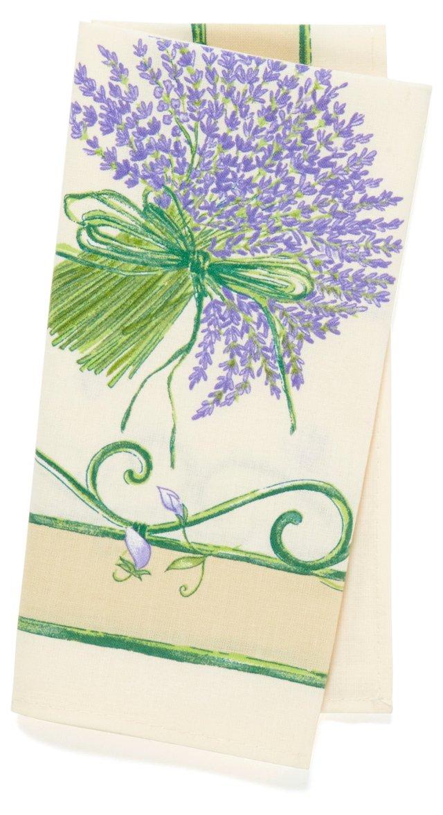 S/4 Lavender Bouquet Napkins