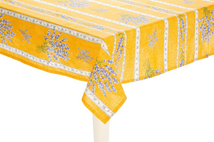 Valensole Lavender Tablecloth, Yellow
