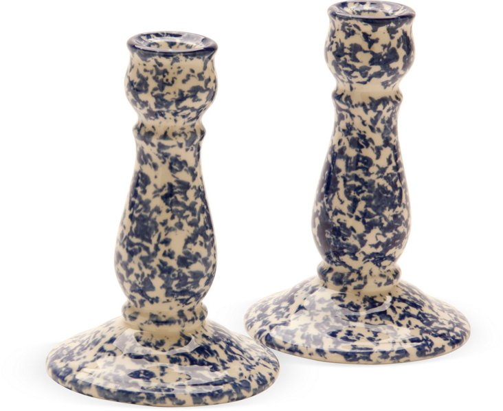 Staffordshire Candlesticks, Pair