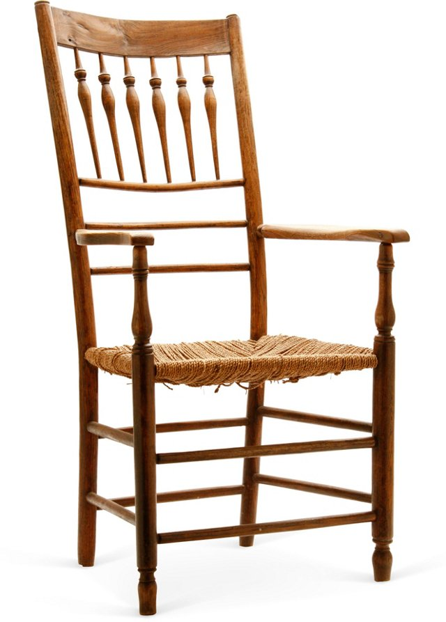 19th-C. Spindle Back Armchair